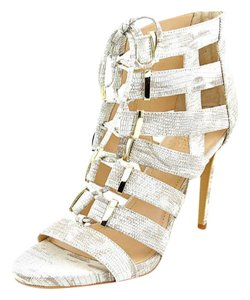 Vince Camuto White/Gray Pumps