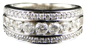 Other 14K White Gold Round Diamond Channel 8Mm Wedding Band Ring 1.04 Ct