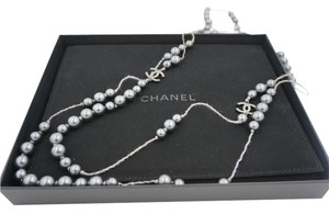 Chanel Chanel Limited Edition Black Pearl Long Sweater Necklace