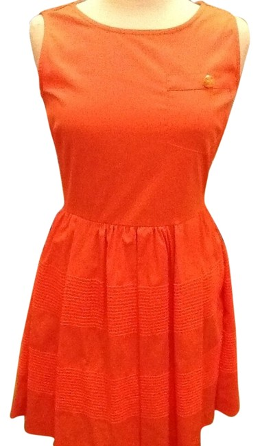 Preload https://item1.tradesy.com/images/gianni-bini-orange-never-worn-tags-not-attached-knee-length-short-casual-dress-size-4-s-2090640-0-1.jpg?width=400&height=650