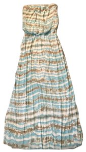 tie-dye sea foam green and taupe Maxi Dress by Cynthia Rowley