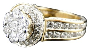 Other 14K Yellow Gold Diamond Engagement Wedding Ring Bridal 4Ct