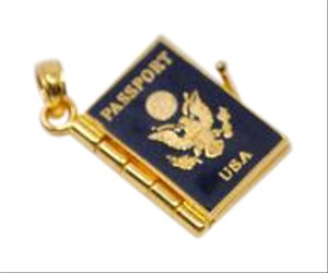 Other Vintage 14K Gold USA Travel Passport Charm