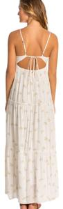 ivory with pink floral print Maxi Dress by Billabong