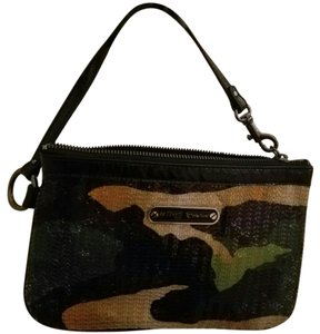 Betsey Johnson Camouflage Sequins Wristlet