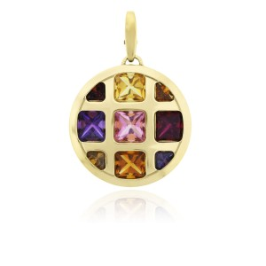 Cartier Cartier Pasha 18k Yellow Gold Multi Gemstone Pendant