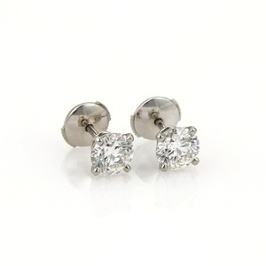 Cartier Cartier 2.30ct Platinum Stud Earrings 2 GIA, Cert Appraisal Paper & Bo