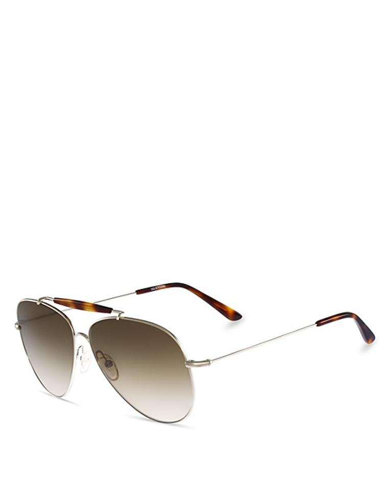 61mm Metallic Gradient Goldbrown Aviator Women's Light Valentino WFYUwqT5