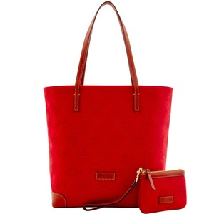 Dooney & Bourke Wristlet & Leather Fabric Tote in RED