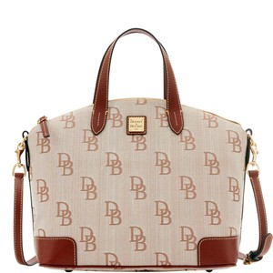 Dooney & Bourke Large Signature & Gabriella Satchel in BROWN