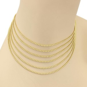 Cartier Cartier Multistrand Beaded 18k Yellow Gold Choker Necklace 14.5