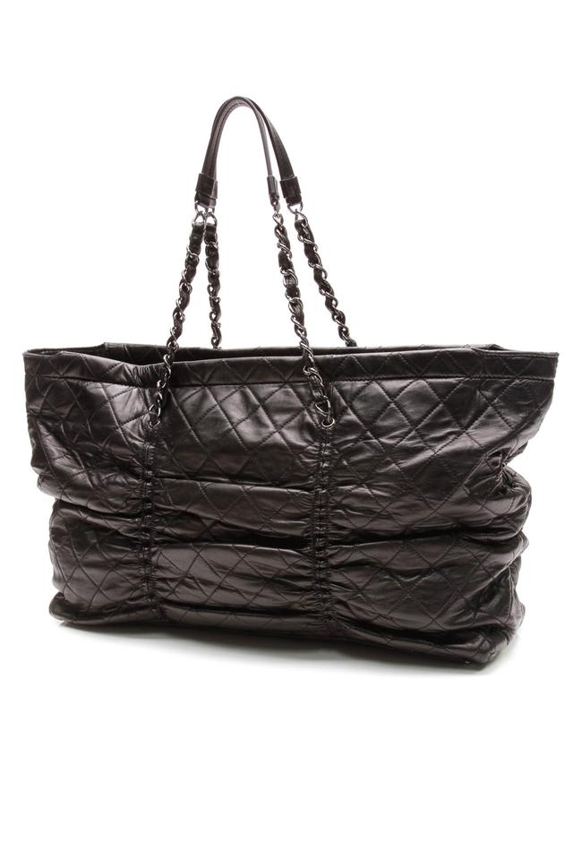 6b86ca41d956 Chanel Shopping East West Quilted Sharpei Black Lambskin Leather ...