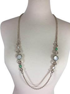 Ippolita Ippolita Sterling Silver Mother of Pearl and Green Moonstone Necklace