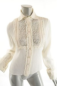 Valentino Easter Lace Spring Top Ivory
