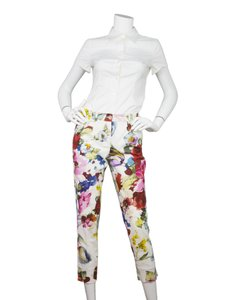 Dolce&Gabbana Dolce & Gabbana Floral Print D&g Straight Pants White and multi-colored