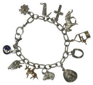 Tiffany & Co. Tiffany & Co. 18K Gold and Sterling Silver Horse Theme Charm Bracelet