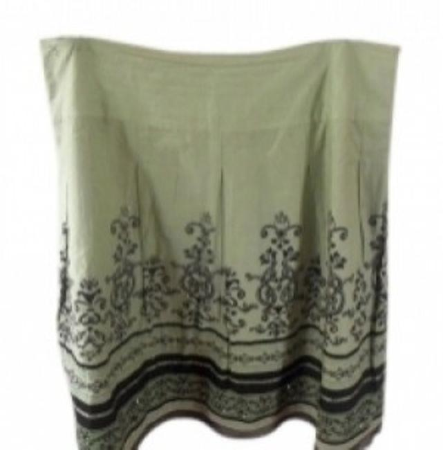 Preload https://img-static.tradesy.com/item/20907/apt-9-lime-green-and-brown-with-some-sequence-knee-length-skirt-size-16-xl-plus-0x-0-0-650-650.jpg