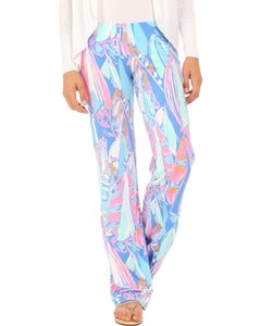 Lilly Pulitzer Flare Pants Bay Blue Out To Sea