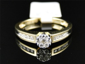 Other 10K Yellow Gold Round Diamond Engagement Wedding Ring .27 Ct
