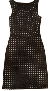 Ann Taylor short dress Navy Blue with White polka Dots on Tradesy