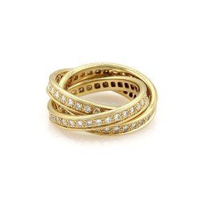 Cartier Cartier Full Circle Diamond 18k Gold Rolling Band Ring Size 52-US 5.5