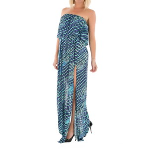 Blue Turquoise Maxi Dress by Just Cavalli Beach Cover-up Floor Length Maxi Summer