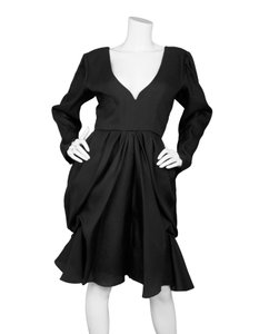 Saint Laurent Ysl Yves Cocktail Organza Silk Dress