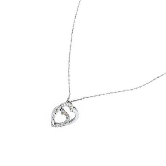 Cartier Cartier 18k White Gold & Diamond Heart Slide Pendant on Necklace