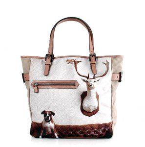 Anya Hindmarch Hindmarch Hindmarch Hindmarch Boxer Dog Hindmarch Antlers Tote in Beige