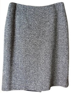 Brooks Brothers Tweed Skirt Grey White