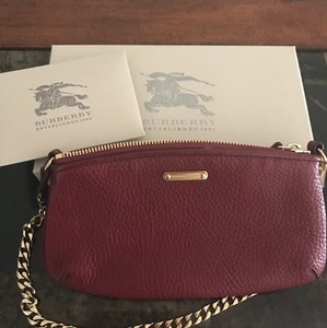 Burberry Red/Burgundy Clutch