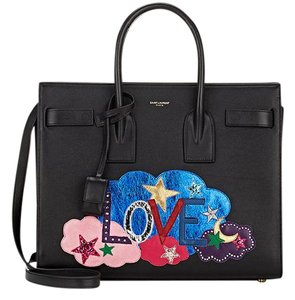 Saint Laurent Sac De Jour Tote in Black