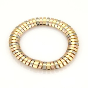 Cartier Cartier Tubogas Tri-Color 18k Gold Wide Flex Link Bracelet