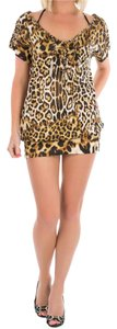 Just Cavalli short dress Brown Leopard Print Animal Mini Summer on Tradesy