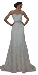 Essense Of Australia Ivcf-iv Ivory Lace Over Cafe Gown With Ivory Sash Wedding Dress