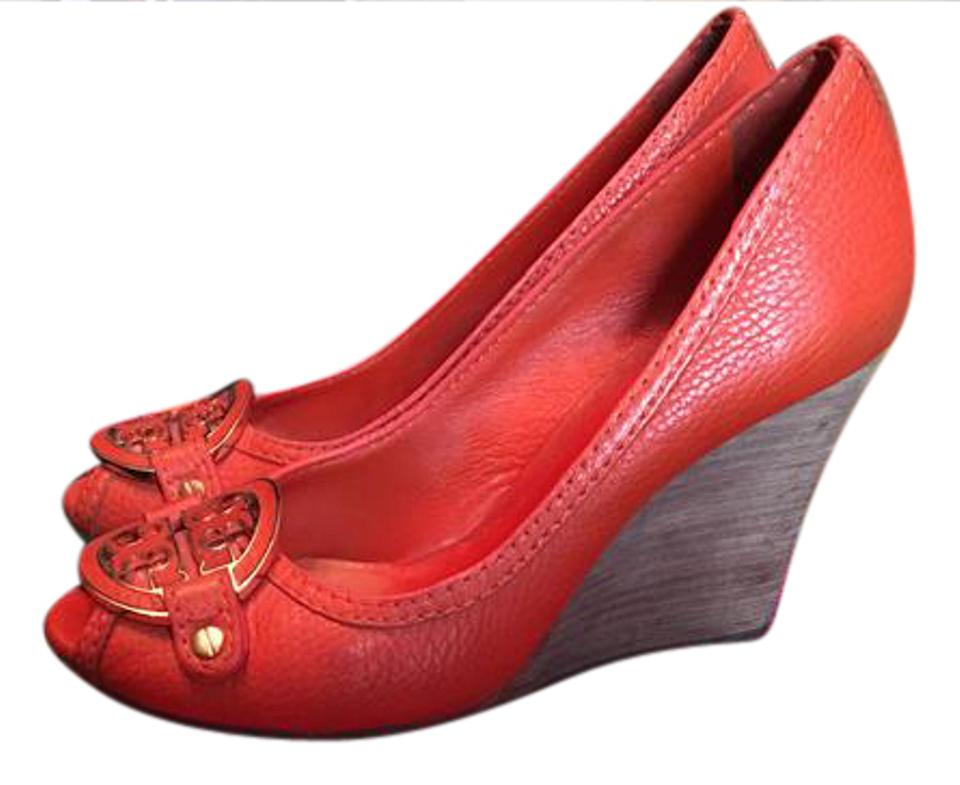 Tory Burch Burndt Orange Orange Burndt 11128600 Wedges 8d607e
