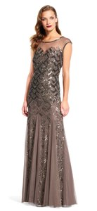 Adrianna Papell Illusion Gown Dress