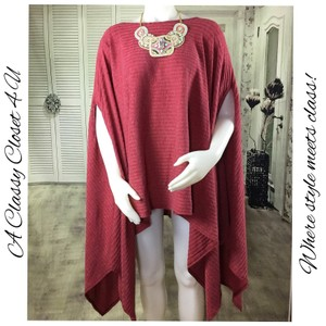 New without Tags Asymmetric Hem Knit Poncho (Plus) Sweater