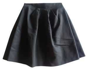 Alexander McQueen Pleated A-line Skirt Black
