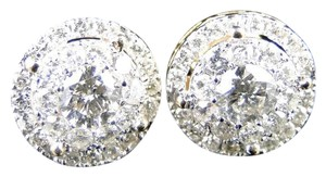 Other 14K Yellow Gold Solitaire Look Vs Diamond Stud Earrings 11Mm 1.5 Ct