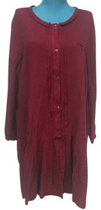 Zara short dress Burgundy, Red, Purple on Tradesy