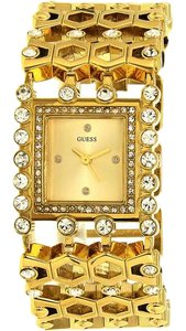 Guess U0574L2 Women's Gold Metal Bracelet With Gold Analog Dial Watch