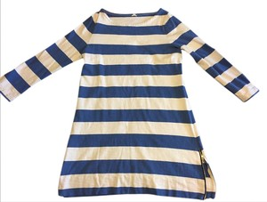 J.Crew short dress Blue/white Bold Stripe on Tradesy