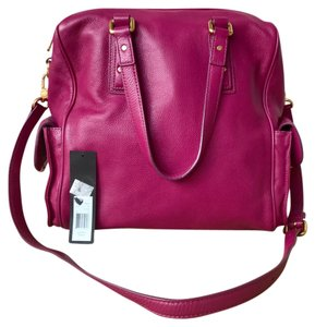 Marc Jacobs Leather Fuschia Satchel in Pink