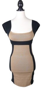 Wow Couture Bodycon Color-blocking Bandage Dress