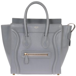 Céline Smooth Leather Classic Calfskin Tote in Smooth Grey