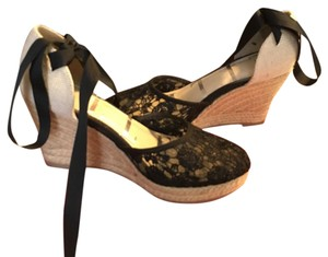 Elle black Wedges