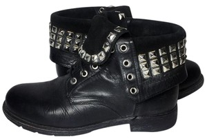 Frye 77832 Rogan Studded Motorcycle 8.5 Women's 8.5 Black Boots