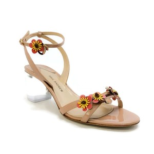 Paul Andrew Lucite Floral nude Sandals