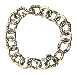 David Yurman David Yurman Large Oval Link Bracelet with 18k Gold